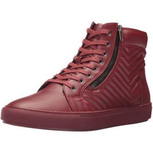 Steve Madden Men's Quilted Red High Top Sneaker 11